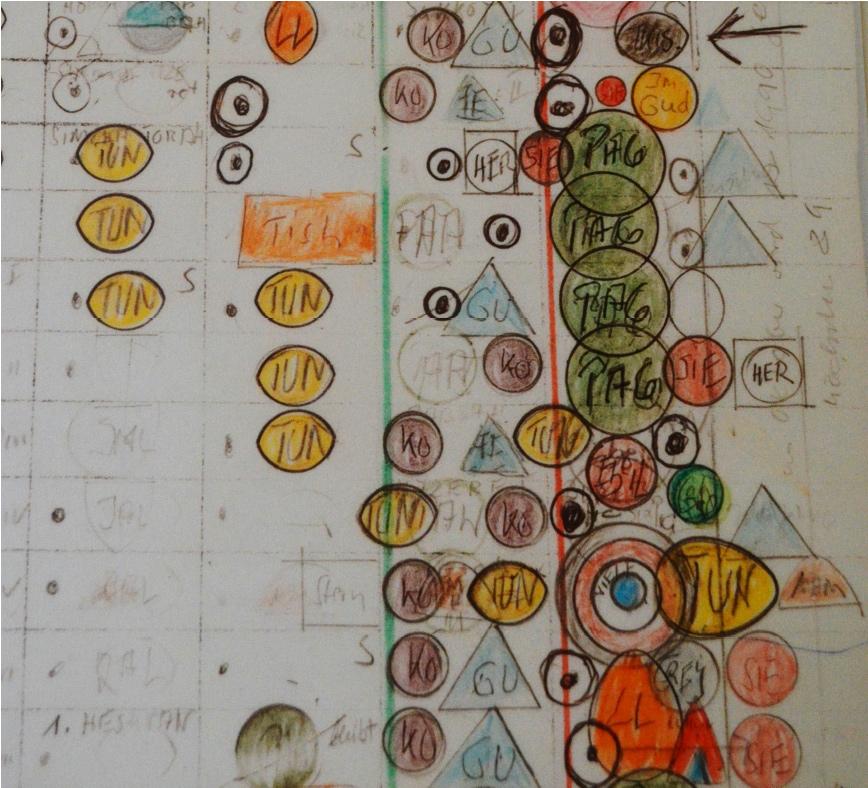 Abb. 18: Detailansicht einer der 12 Tafeln der Partitur zum Wirren Zopf (© C.-M. Ort)